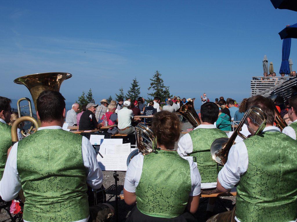 Auch die Musik konnte das wunderschöne Panorama bewundern