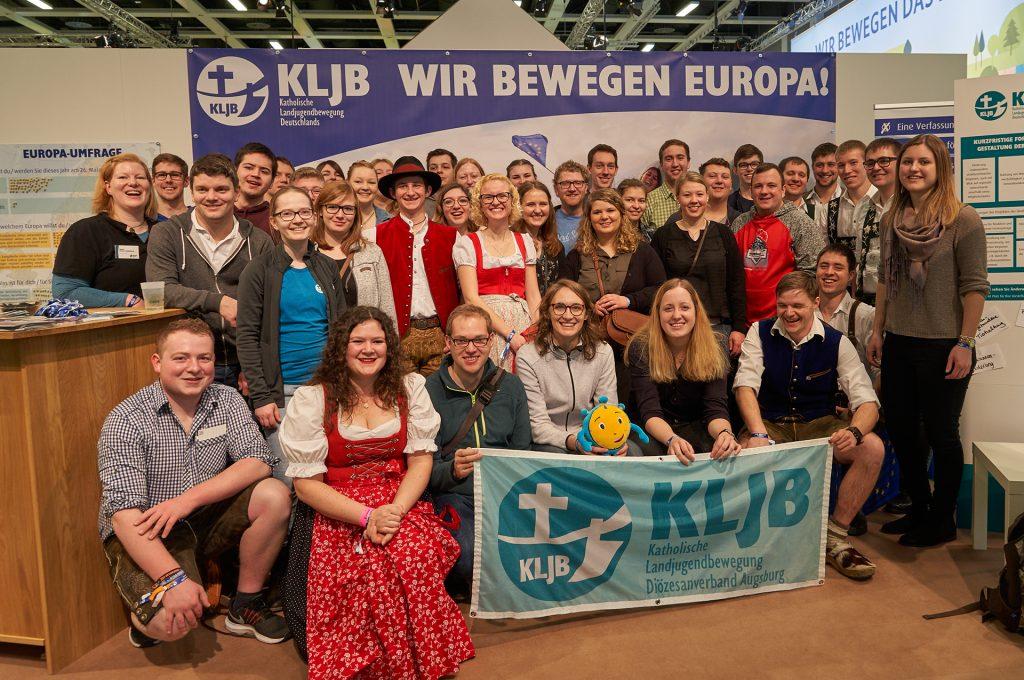 Natürlich war auch Stoppi am Stand der KLJB Deutschland dabei.