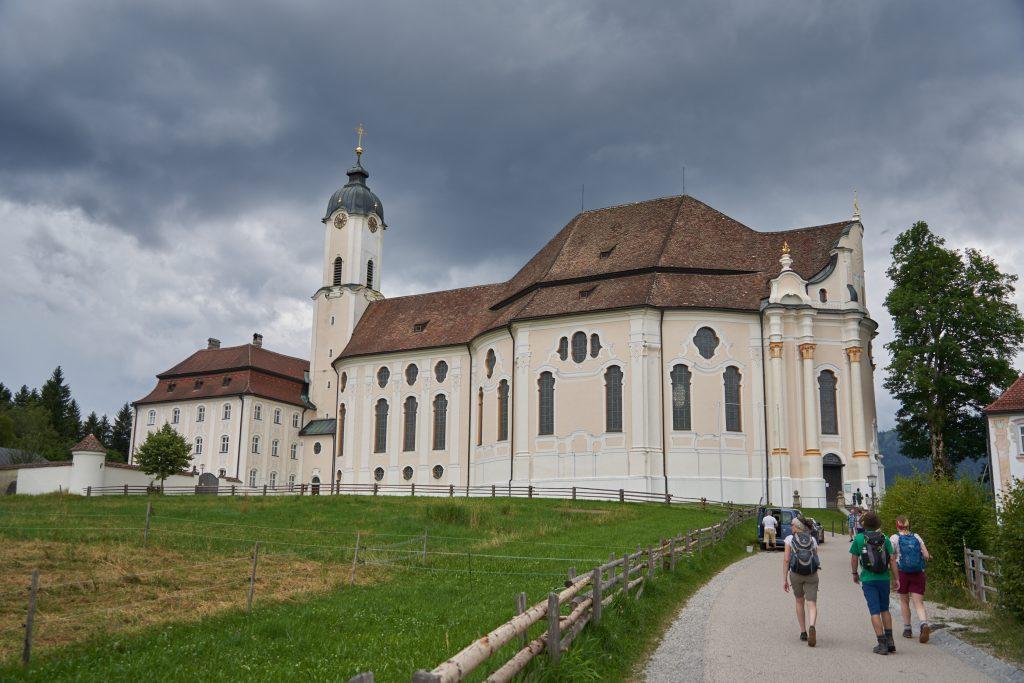 Ankunft an der Wieskirche